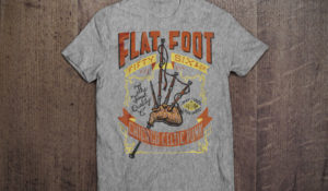 FlatFoot 56 Bagpipe T-shirt design